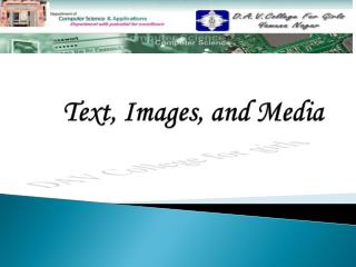 Text, Images, and Media