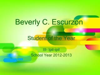 Beverly C.  Escurzon