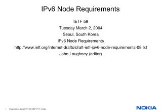 IPv6 Node Requirements