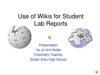 Use of Wikis for Student  Lab Reports