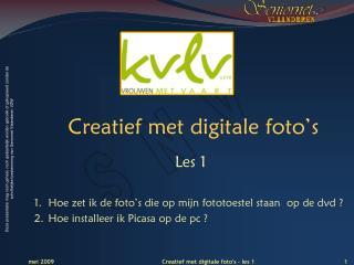 Creatief met digitale foto's