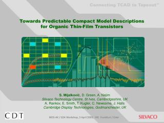 Towards Predictable Compact Model Descriptions  for Organic Thin-Film Transistors