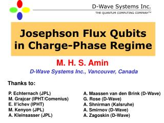 Josephson Flux Qubits  in Charge-Phase Regime