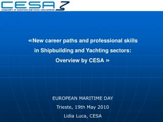 « New career paths and professional skills  in Shipbuilding and Yachting sectors:
