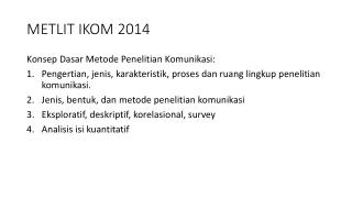 METLIT IKOM 2014