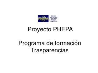 Programa de formación  Trasparencias