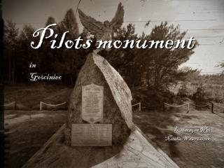 Pilots monument in Go ? ciniec