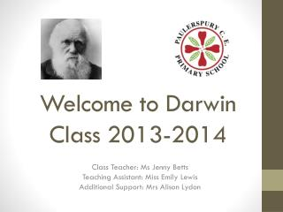 Welcome to Darwin Class 2013-2014