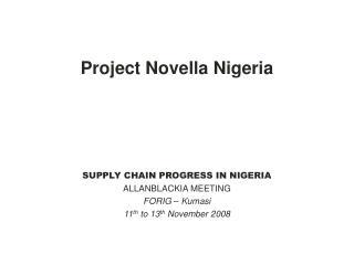 Project Novella Nigeria