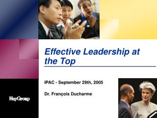 Effective Leadership at the Top