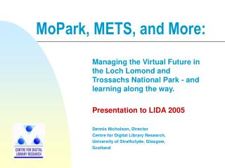 MoPark, METS, and More: