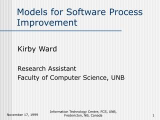 Models for Software Process Improvement