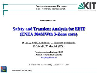 Safety and Transient Analysis for EFIT  (ENEA 384MWth 3-Zone core)