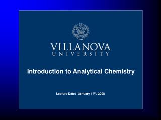 Lecture Date:  January 14th, 2008