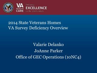 2014 State Veterans Homes  VA Survey Deficiency Overview