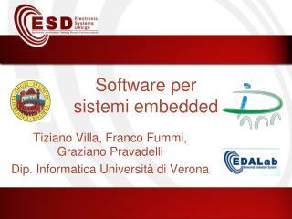 Software per sistemi embedded