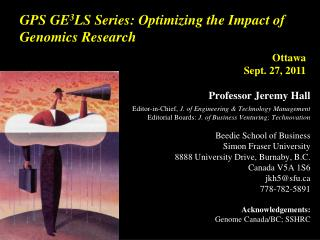 GPS GE 3 LS Series: Optimizing the Impact of Genomics Research