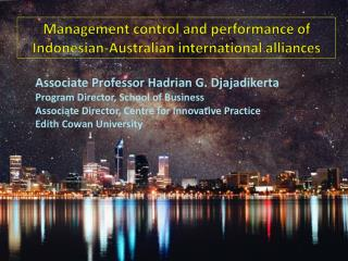 Management control and performance of Indonesian-Australian international alliances