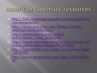 American landmark resources