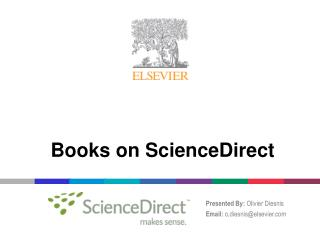 Books on ScienceDirect