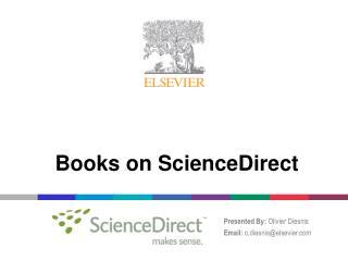 Books on ScienceDirect