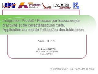 15 Octobre 2007 – CER ENSAM de Metz