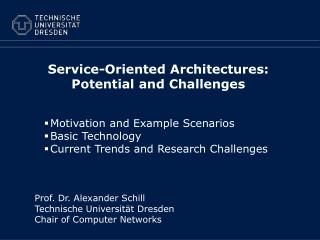 Service-Oriented Architectures:  Potential and Challenges