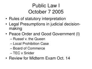 Public Law I October 7 2005
