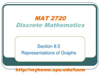 MAT 2720 Discrete Mathematics