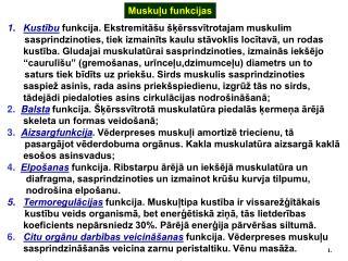 Muskuļu funkcijas
