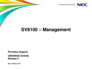 SV8100 � Management
