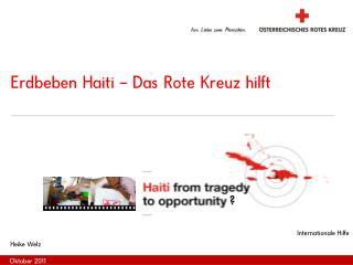 Erdbeben Haiti – Das Rote Kreuz hilft