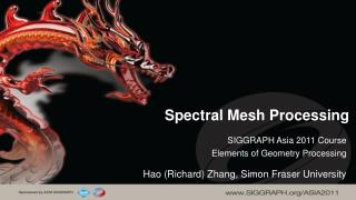 Spectral Mesh Processing
