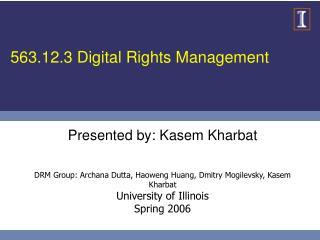 563.12.3 Digital Rights Management