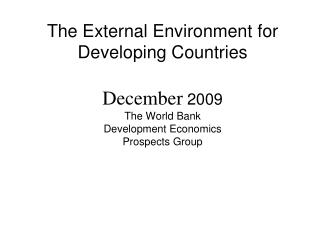Source : World Bank, DEC Prospects Group.