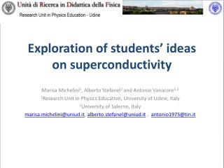 Exploration of students' ideas on superconductivity