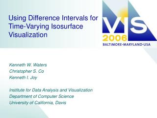 Using Difference Intervals for Time-Varying Isosurface Visualization