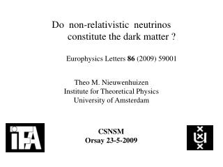 Theo M. Nieuwenhuizen  Institute for Theoretical Physics University of Amsterdam