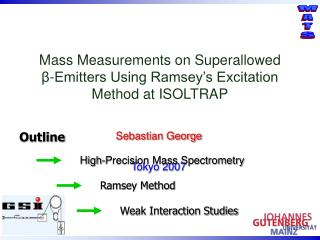 Mass Measurements on Superallowed  β - Emitters Using Ramsey's Excitation Method at ISOLTRAP