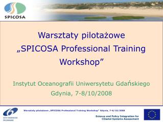 """Warsztaty pilotażowe """" SPICOSA  Professional Training Workshop"""""""