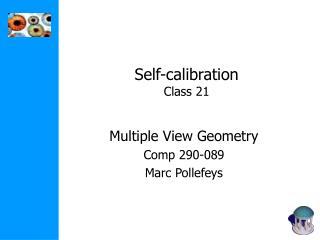 Self-calibration Class 21