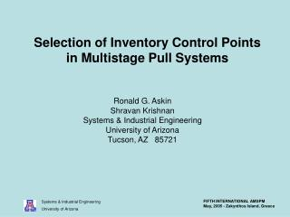 Selection of Inventory Control Points in Multistage Pull Systems