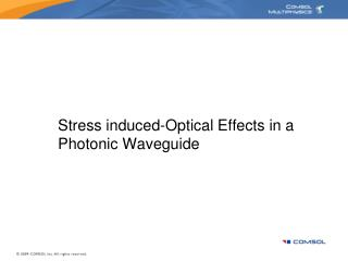 Stress induced-Optical Effects in a Photonic Waveguide