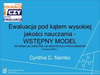 Cynthia C. Nambo