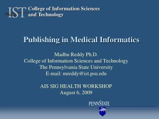 Publishing in Medical Informatics