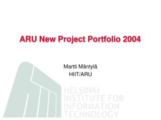 ARU New Project Portfolio 2004