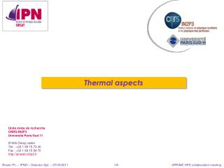 Thermal aspects