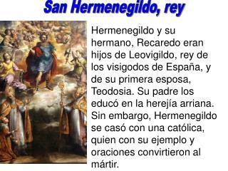 San Hermenegildo, rey