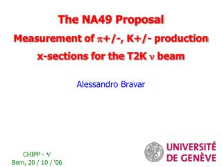 The NA49 Proposal Measurement of  p +/-, K+/- production  x-sections for the T2K  n  beam