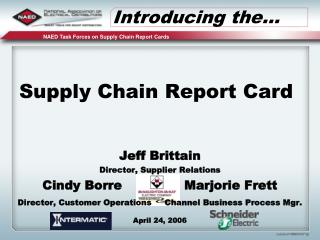 Supply Chain Report Card
